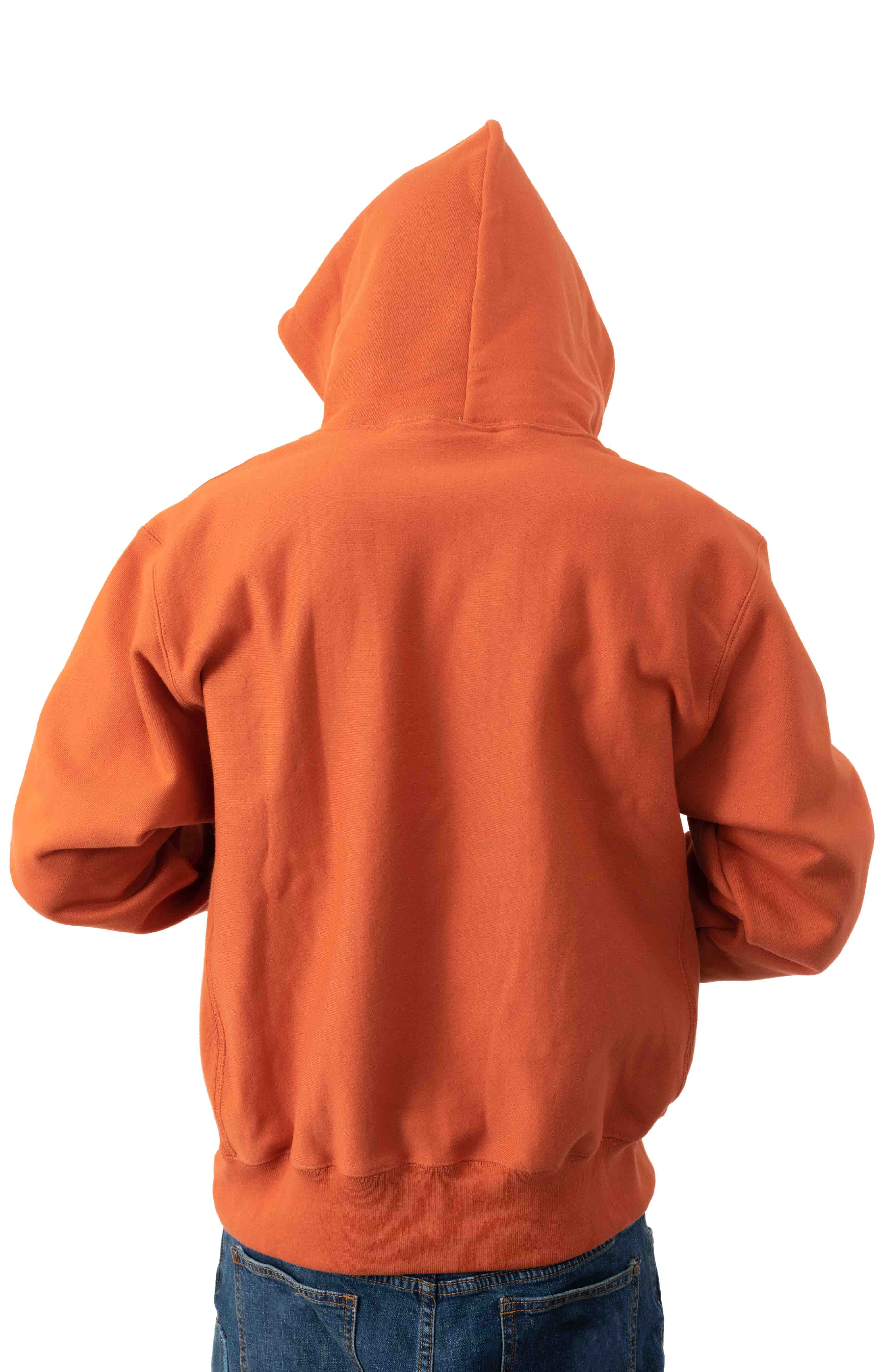 Reverse Weave Pullover Hoodie - Ambitious Orange  3