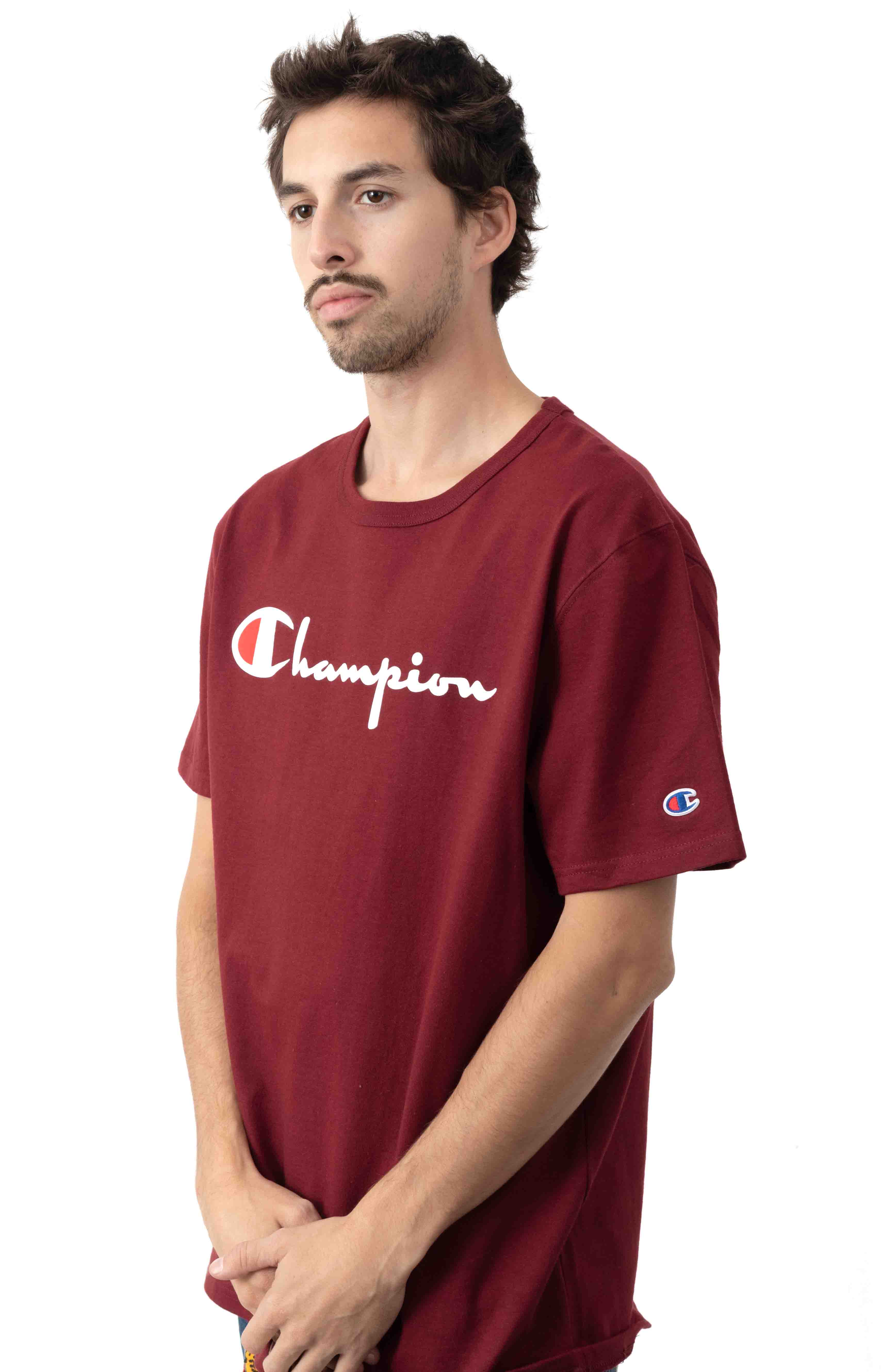 Heritage Script T-Shirt - Sepia Red 2