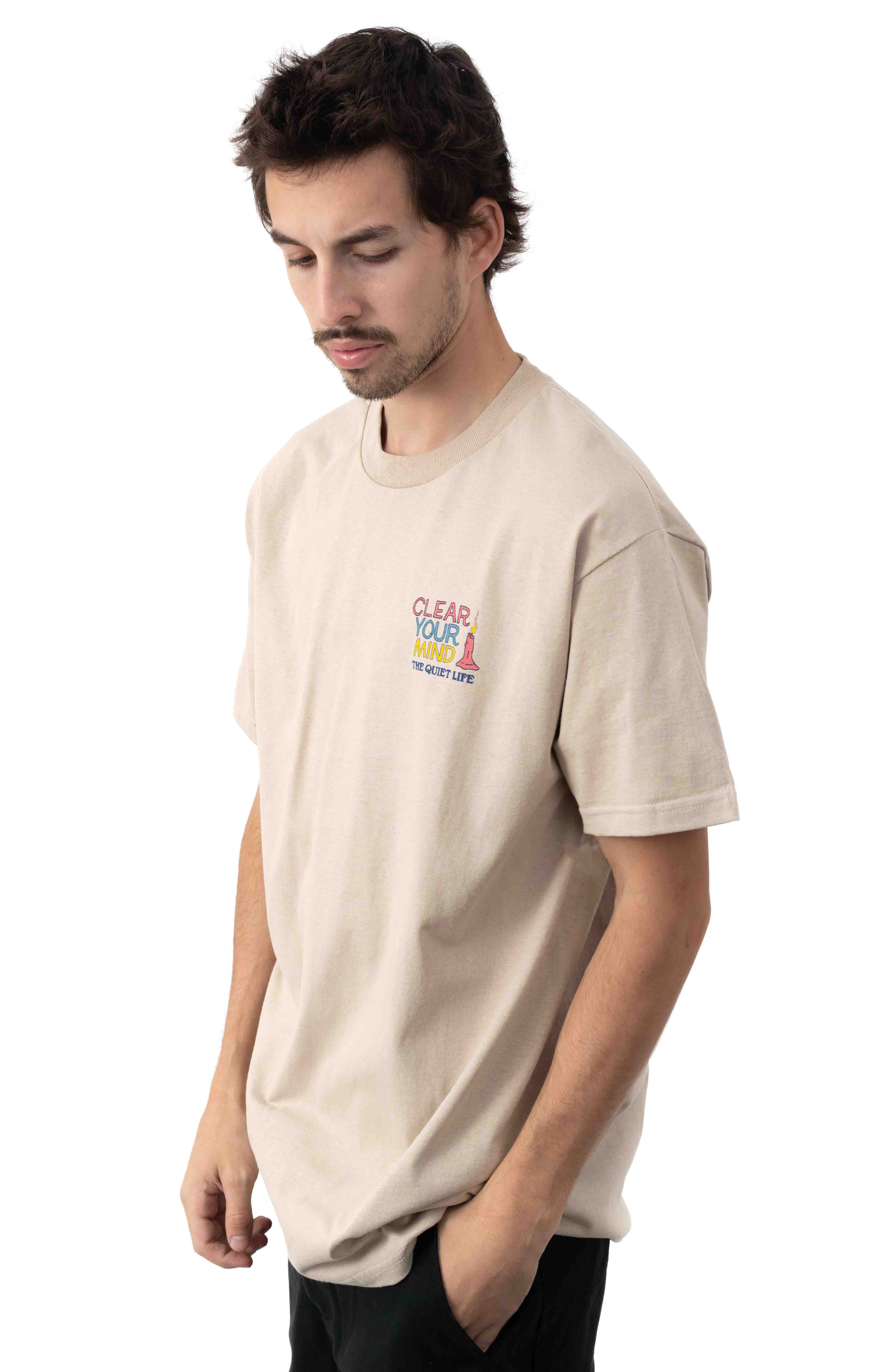 Clear Your Mind T-Shirt - Sand  3
