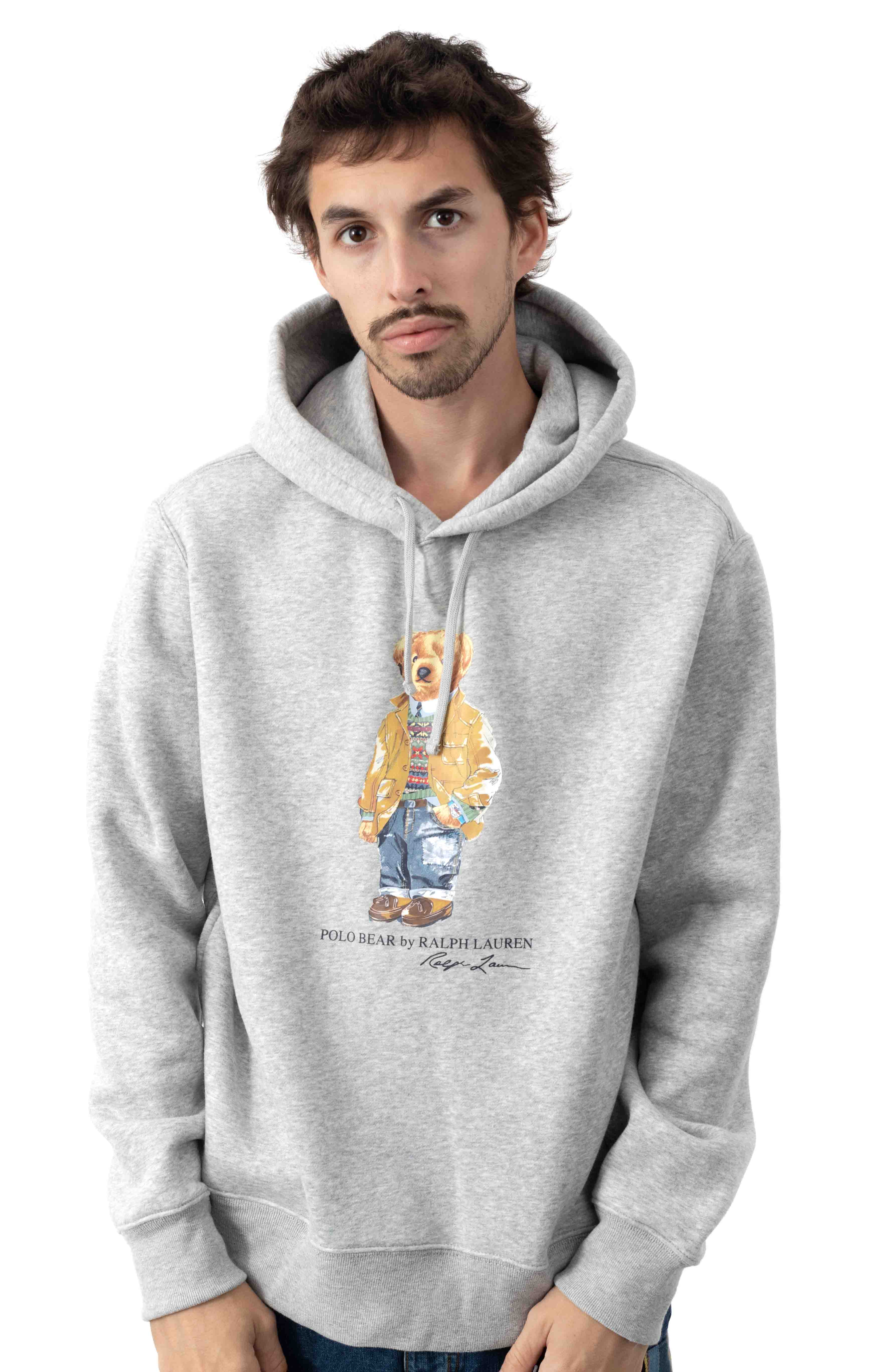Polo Bear Coat Pullover Hoodie - Grey