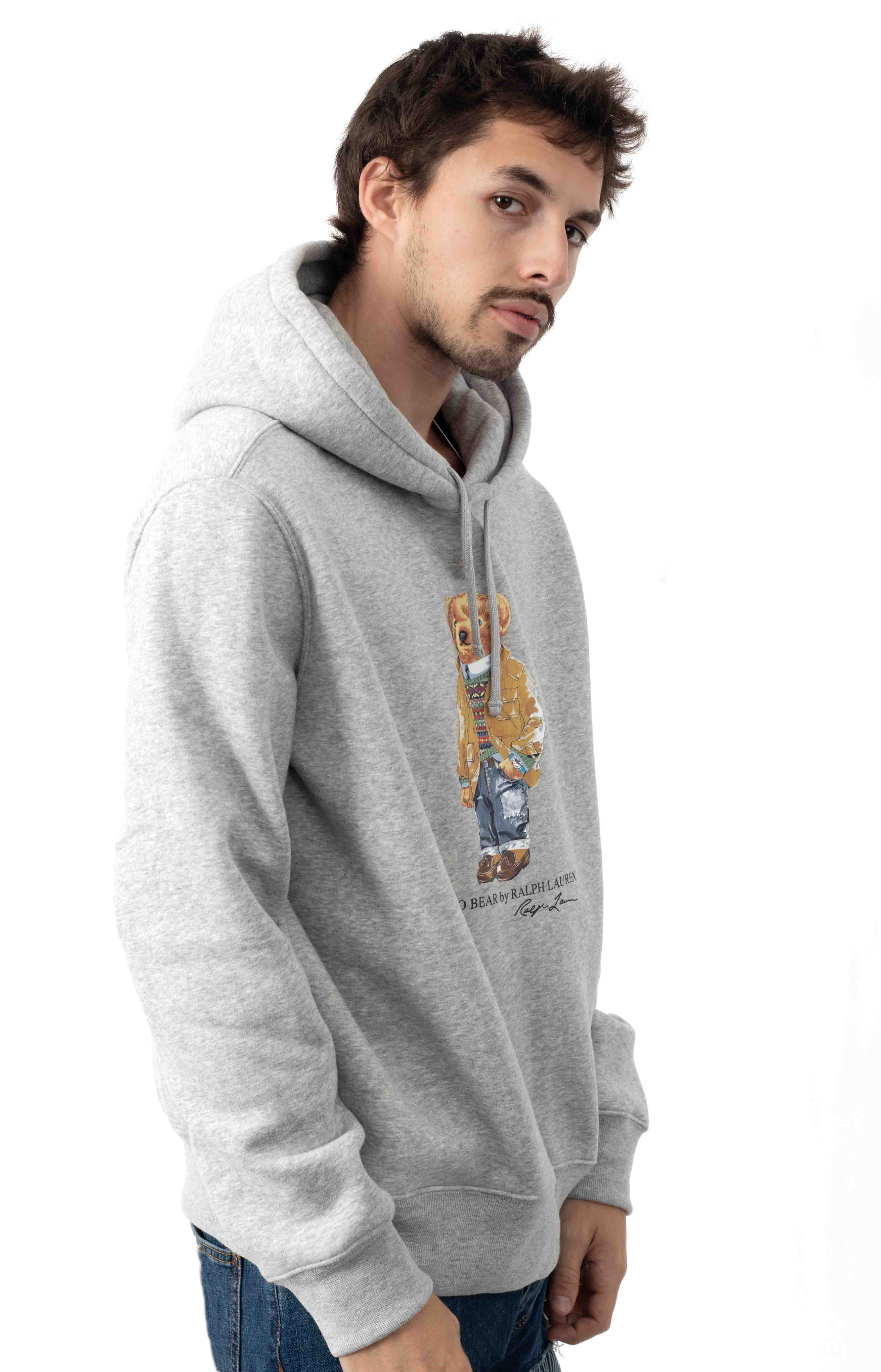 Polo Bear Coat Pullover Hoodie - Grey 2