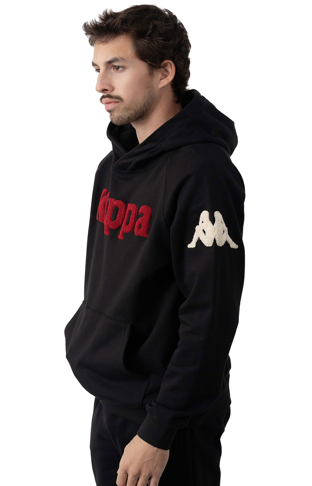 Authentic Katio Pullover Hoodie - Black/Red 2
