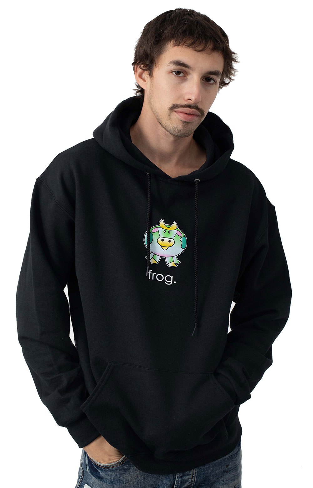 The Cow Pullover Hoodie - Black