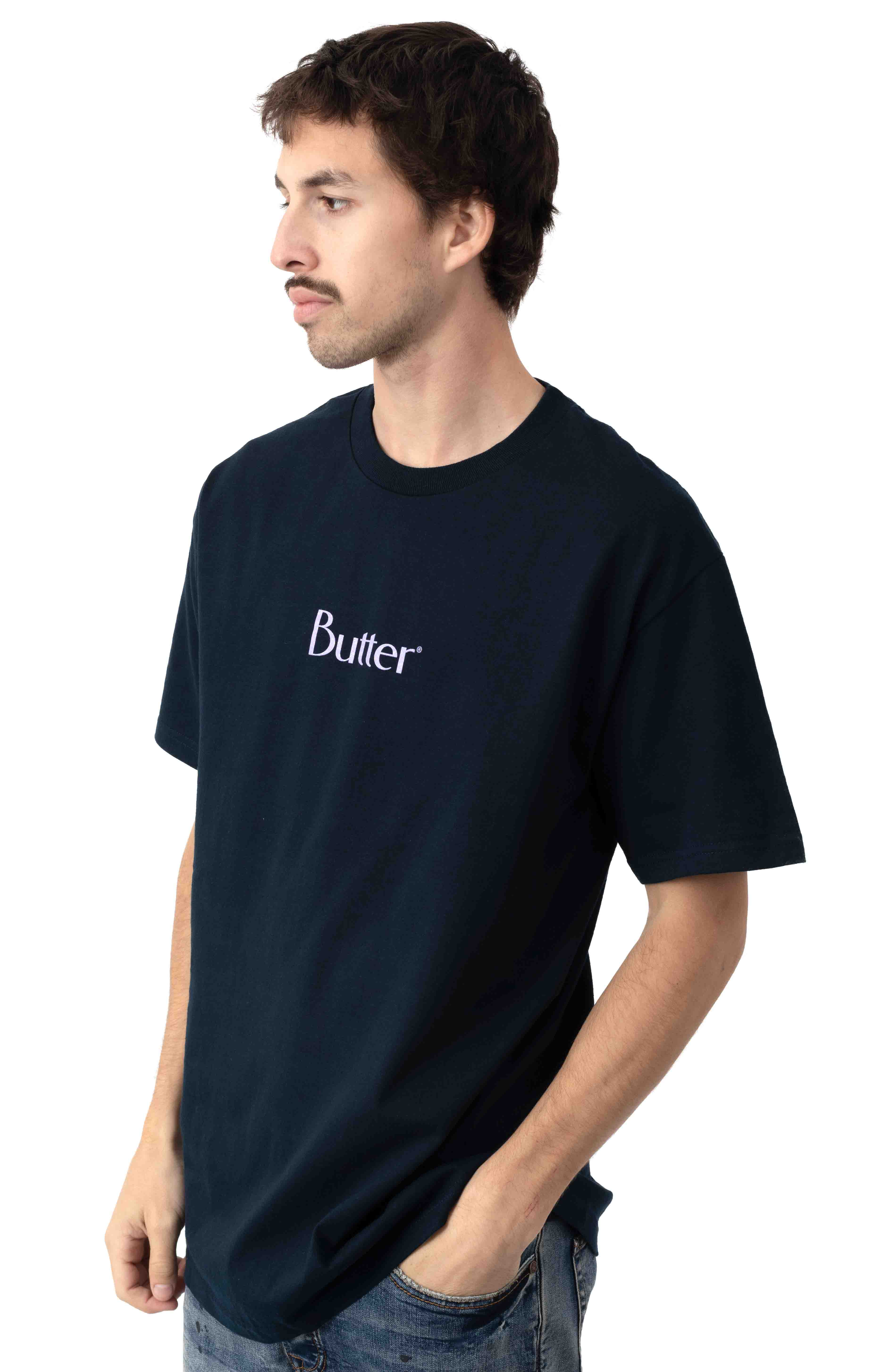 Speckle Classic Logo T-Shirt - Navy 2