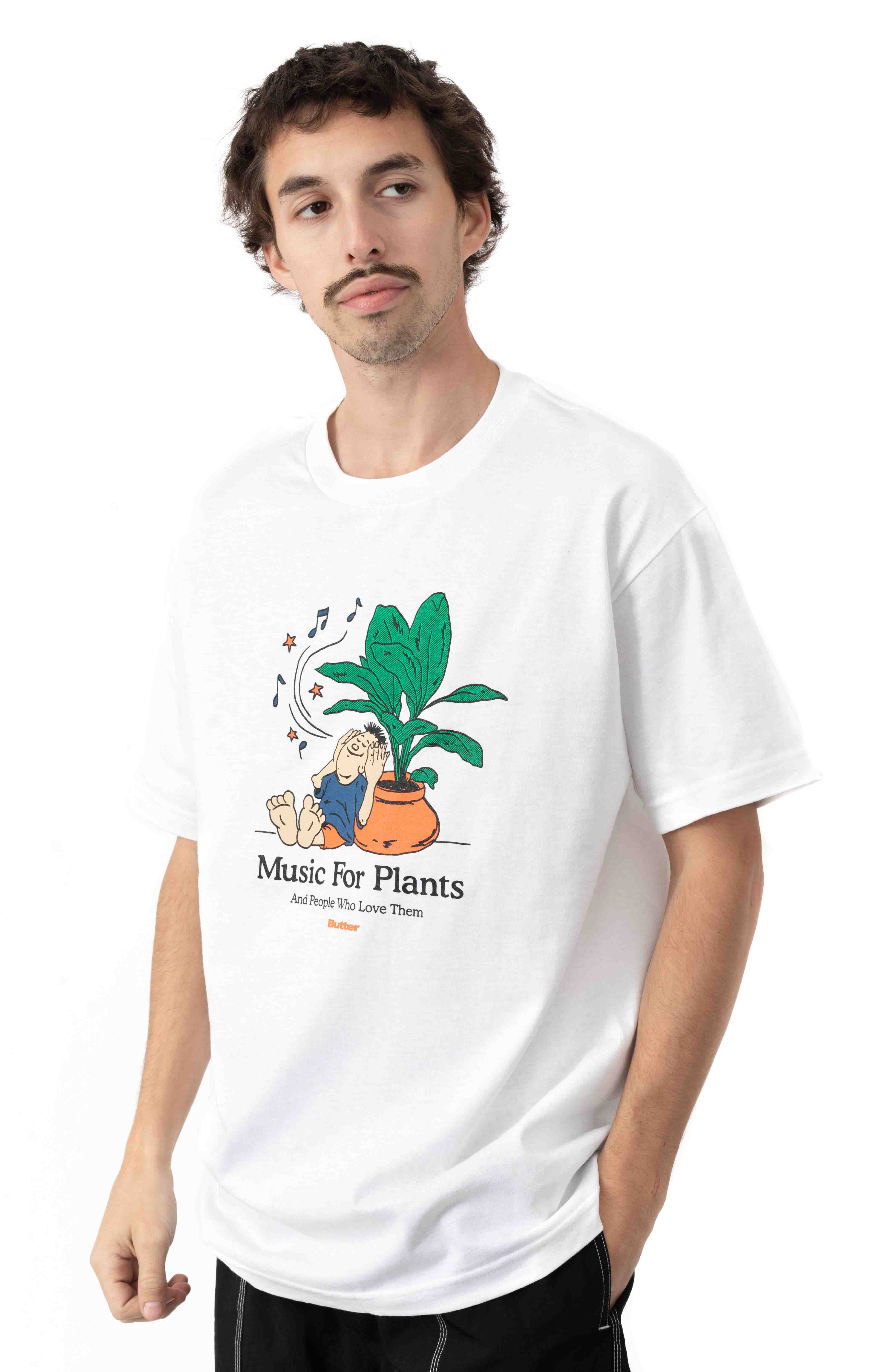 Music For Plants T-Shirt - White  2