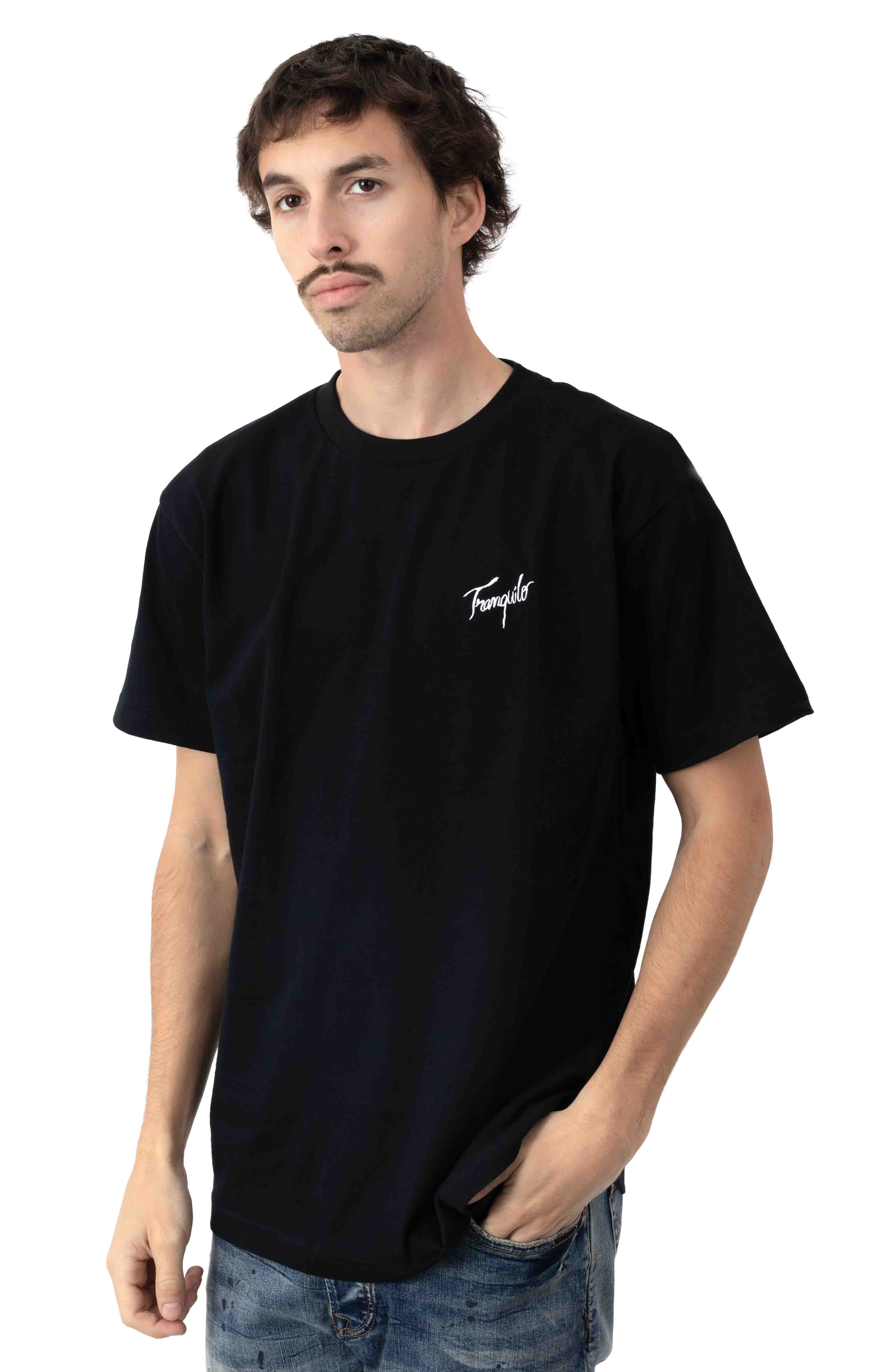 Tranquilo Embroidered T-Shirt - Black 2
