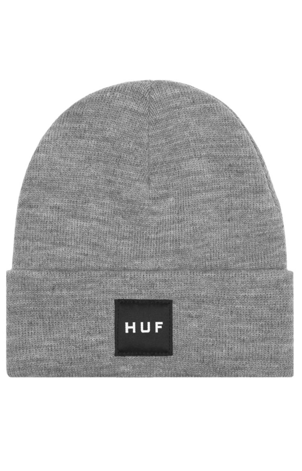 Essentials Box Logo Beanie - Grey Heather