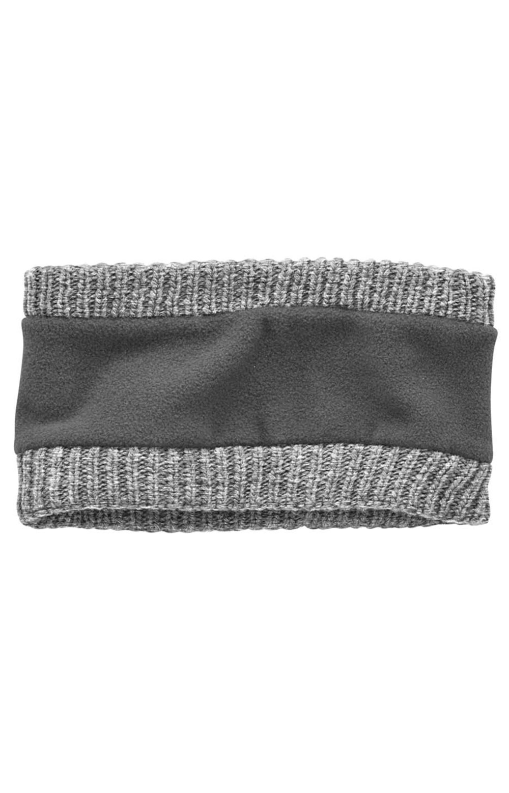 (104402) Knit Fleece Lined Headband - Heather Grey 2