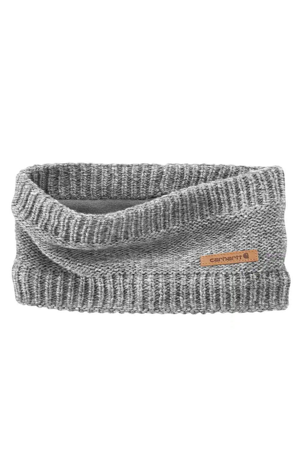 (104402) Knit Fleece Lined Headband - Heather Grey