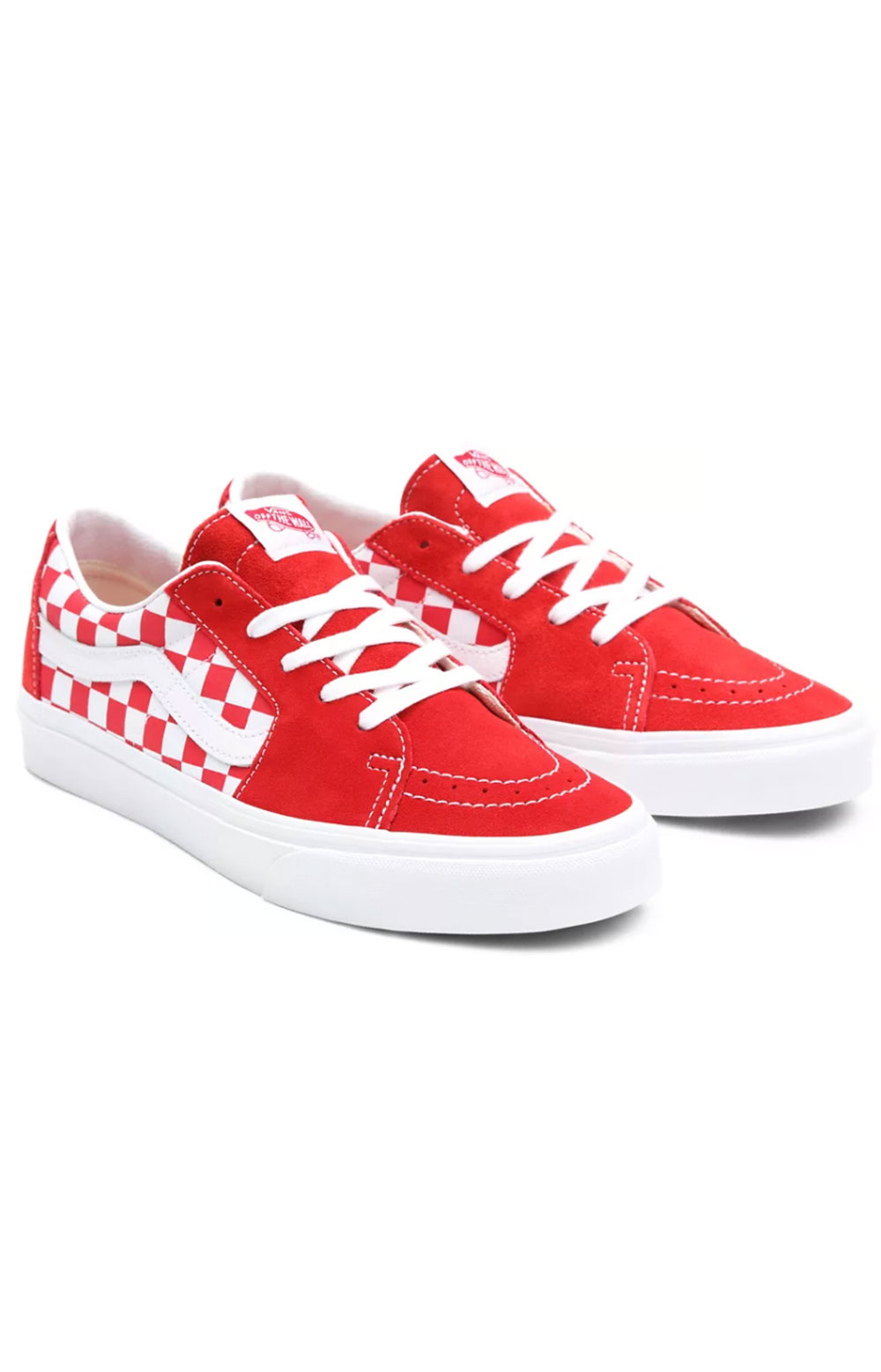 (UUK4W9) Canvas Suede Sk8-Low Shoes - Racing Red/Checkerboard 2