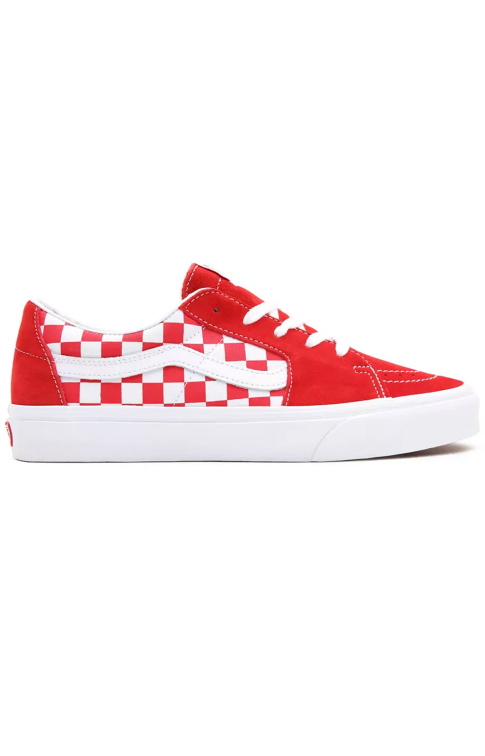 (UUK4W9) Canvas Suede Sk8-Low Shoes - Racing Red/Checkerboard