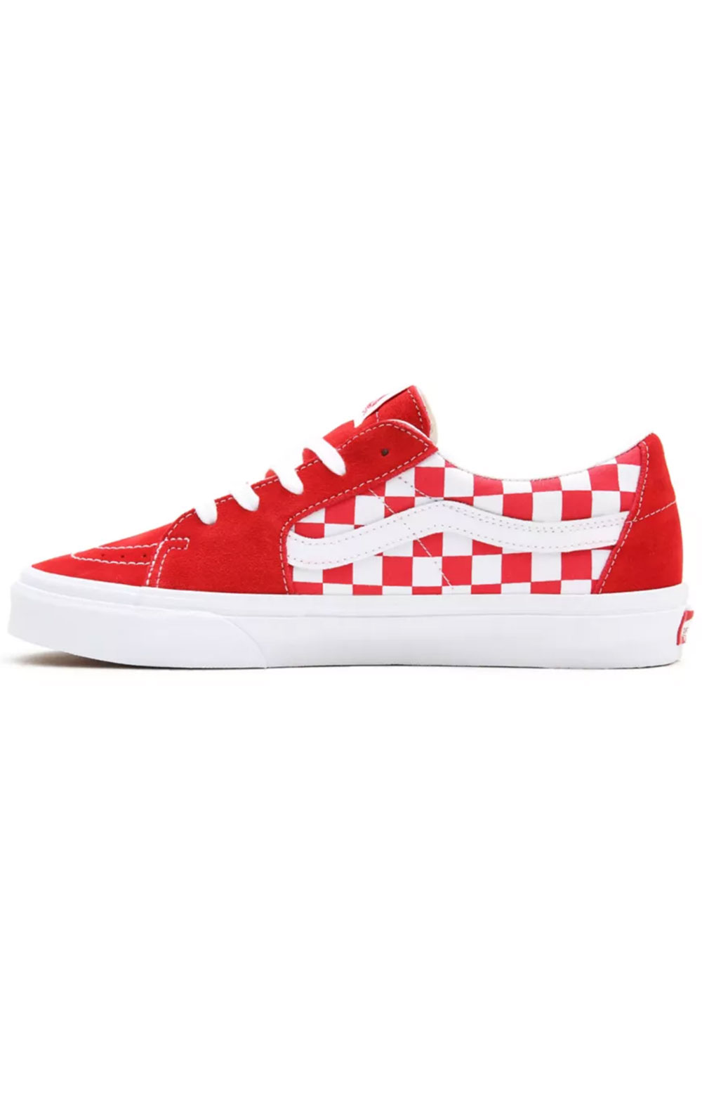 (UUK4W9) Canvas Suede Sk8-Low Shoes - Racing Red/Checkerboard 3