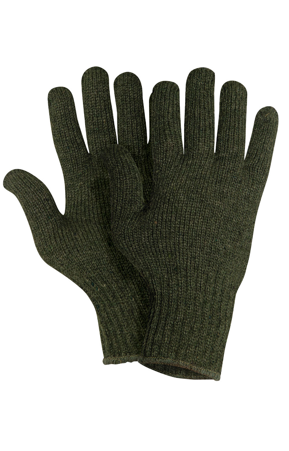 (8218) Wool Glove Liners - Olive Drab 4