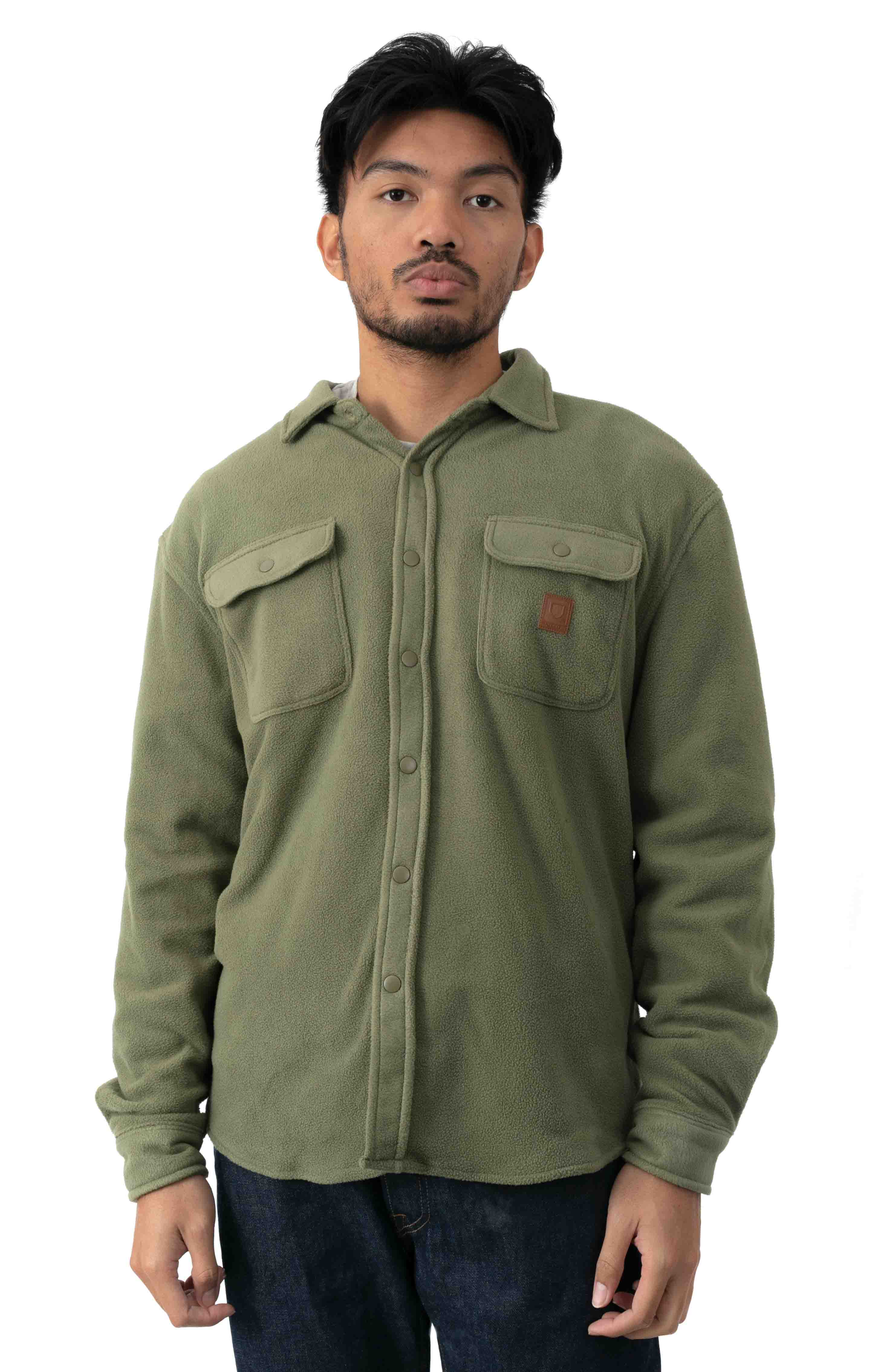 Bowery L/S Arctic Stretch Fleece - Military Olive