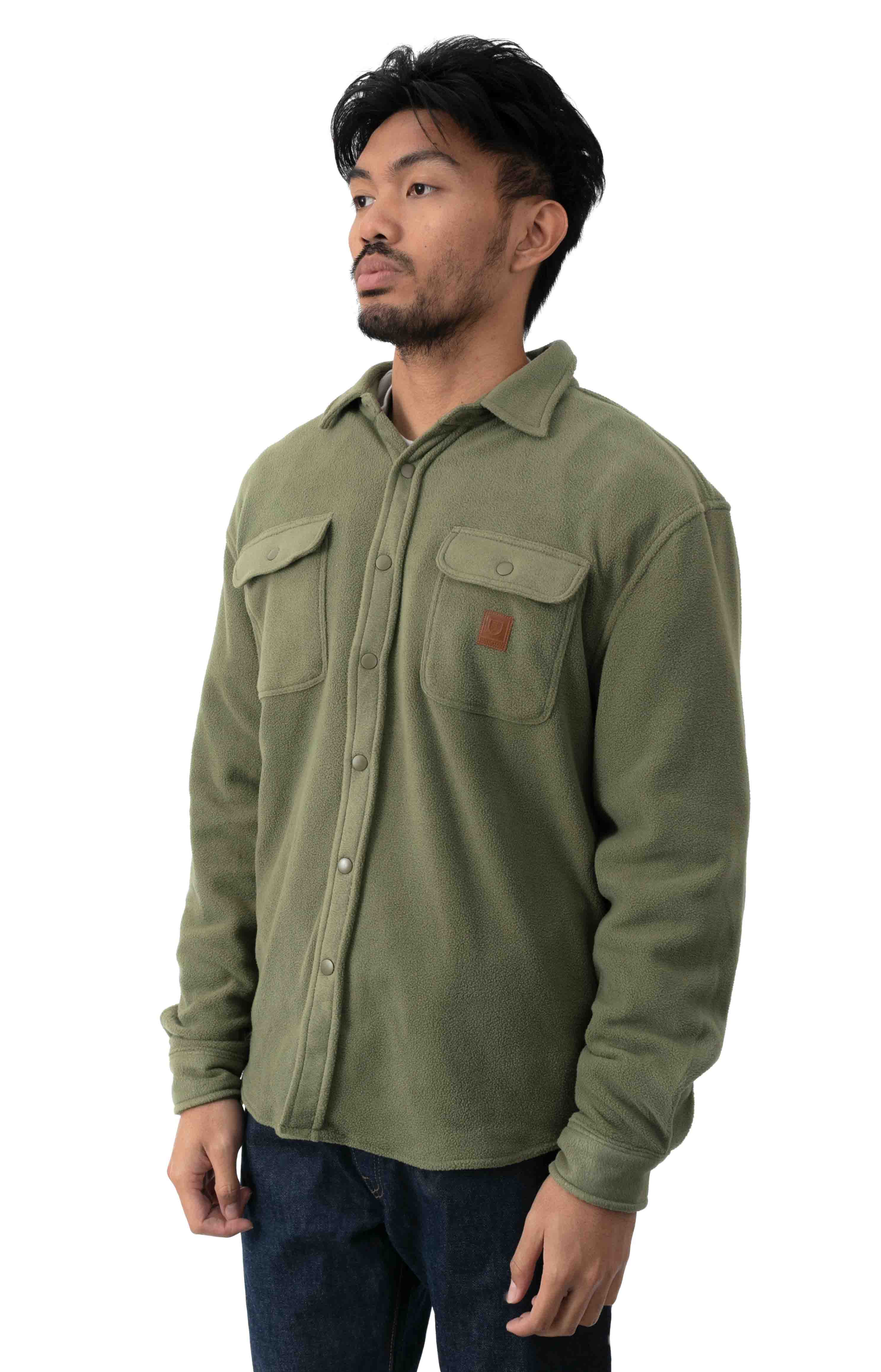 Bowery L/S Arctic Stretch Fleece - Military Olive 2