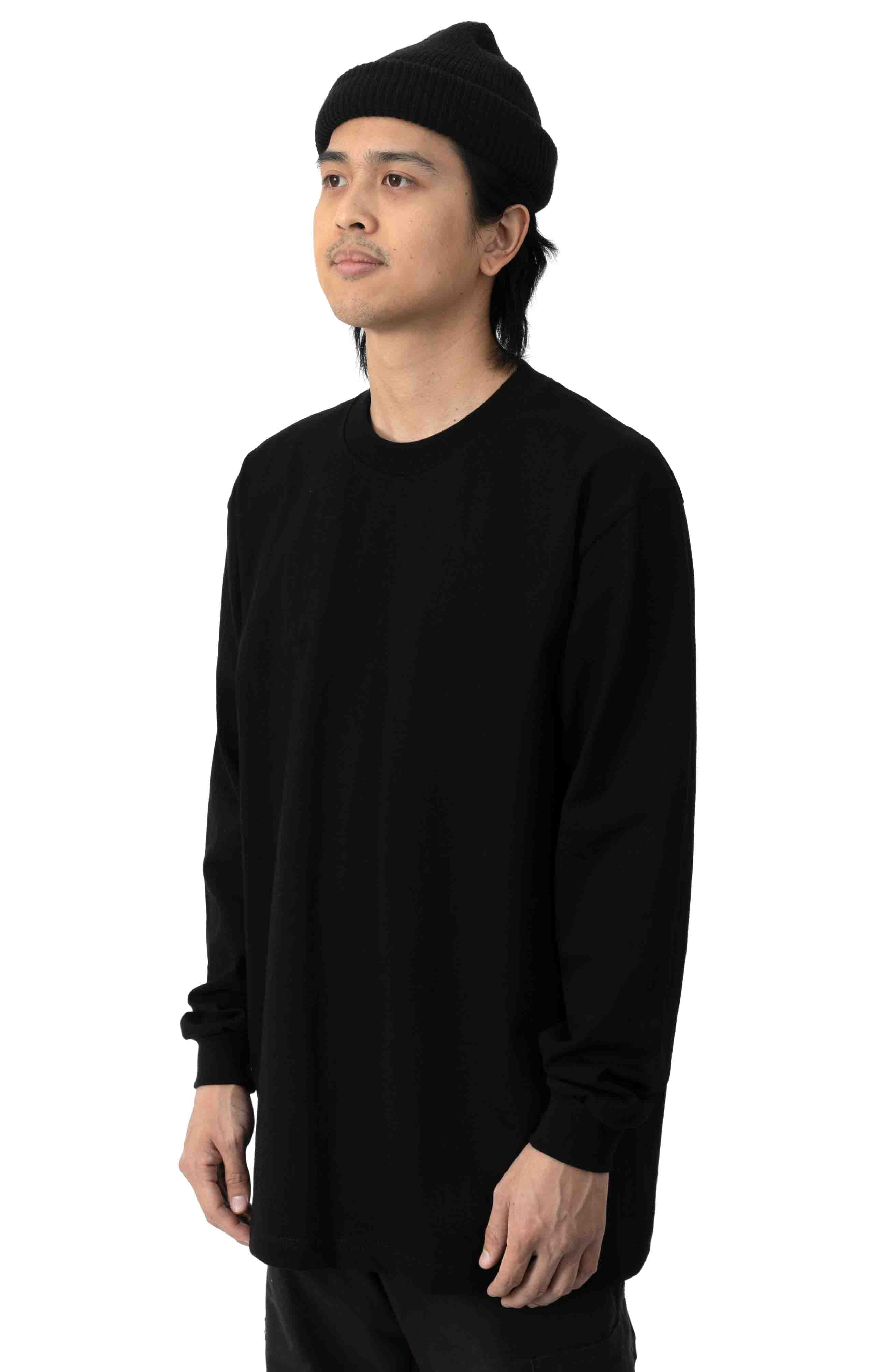 Max Heavyweight L/S Shirt - Black  2