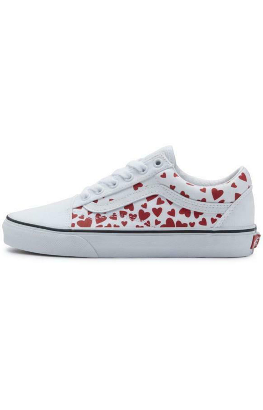(WKT4S0) Valentines Hearts Old Skool Shoes - White 3