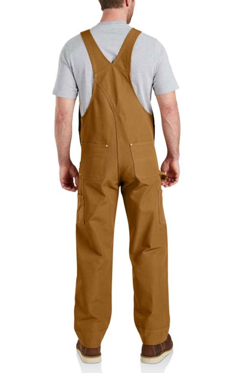 (102776) Relaxed Fit Duck Bib Overalls - Carhartt Brown 2