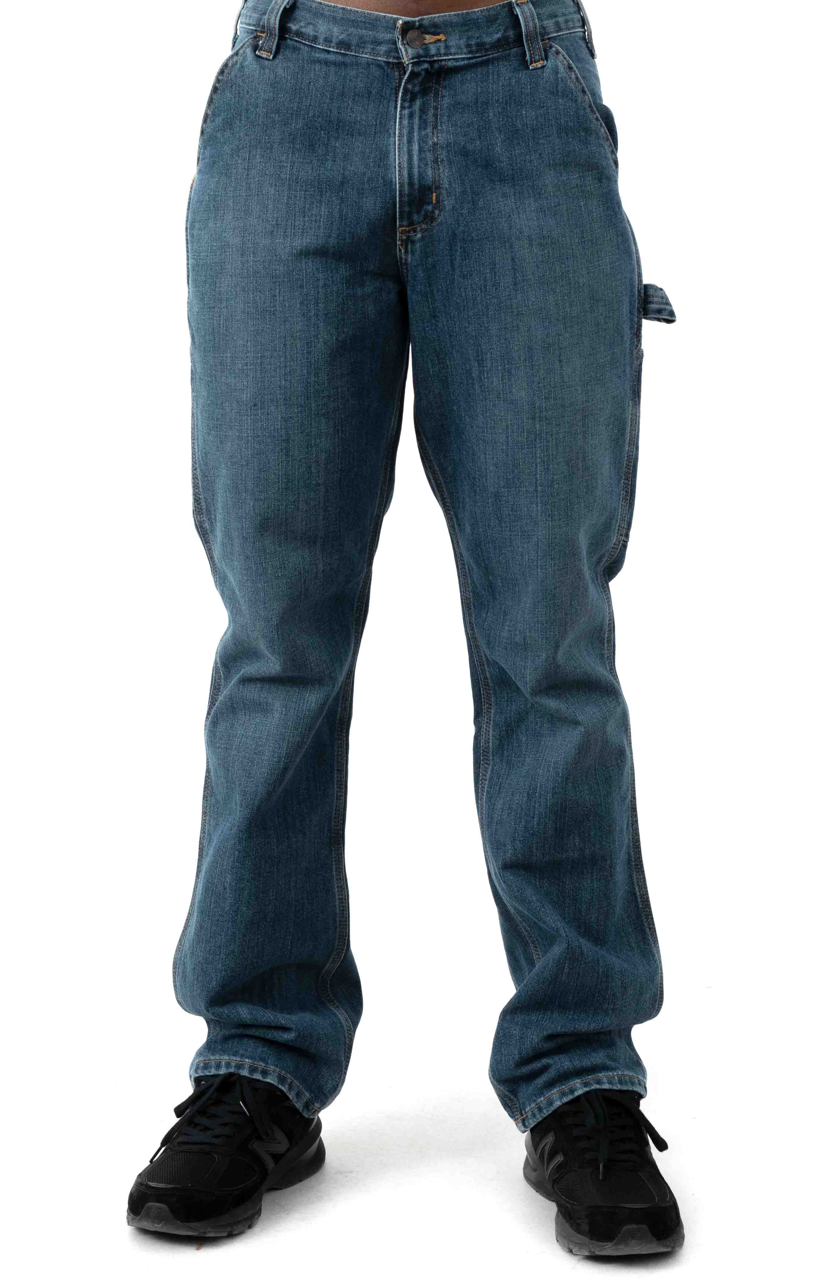 (103327) Relaxed Fit Holter Dungaree Jean - Frontier