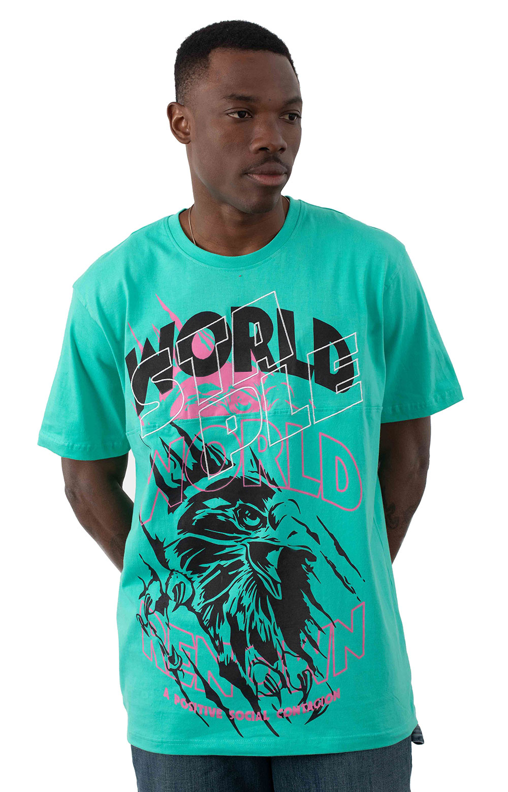 Rebels Split T-Shirt - Teal