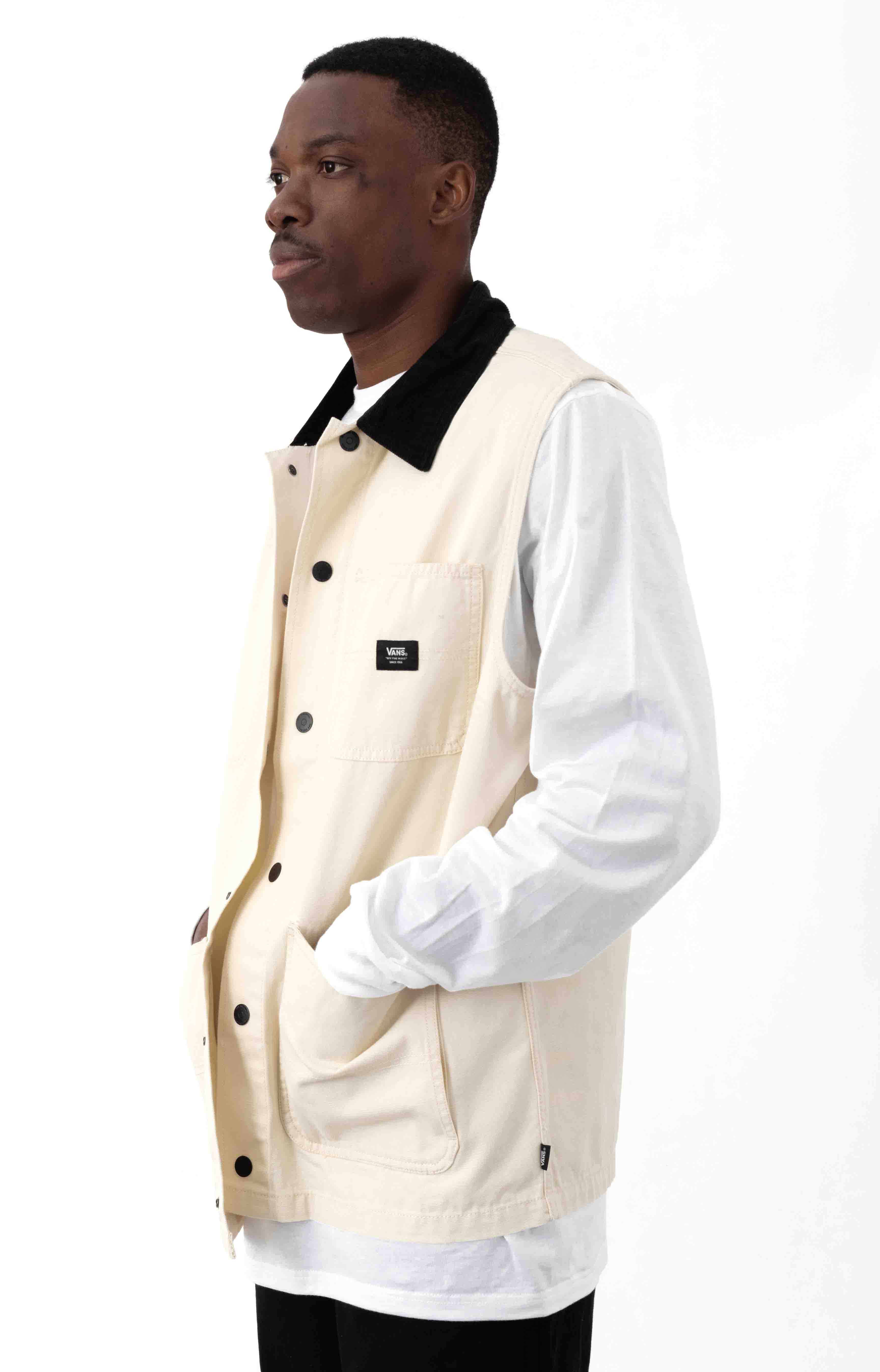 Drill Chore Canvas Vest - Seed Pearl  2