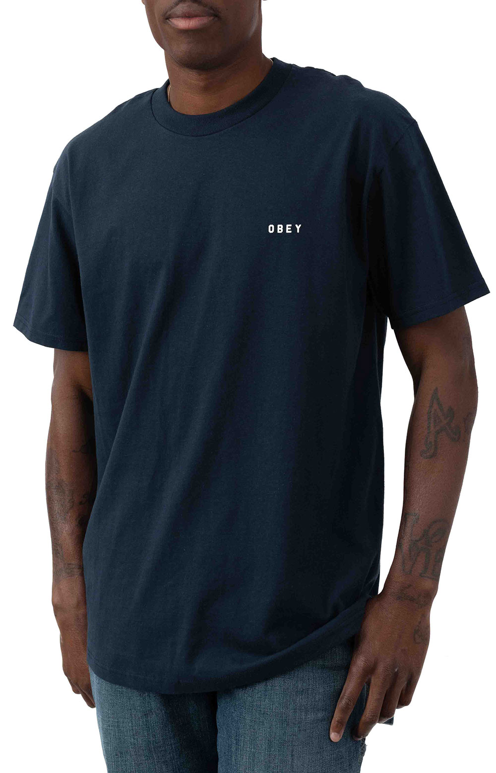 Obey Dissent & Chaos Tiger T-Shirt - Navy  2