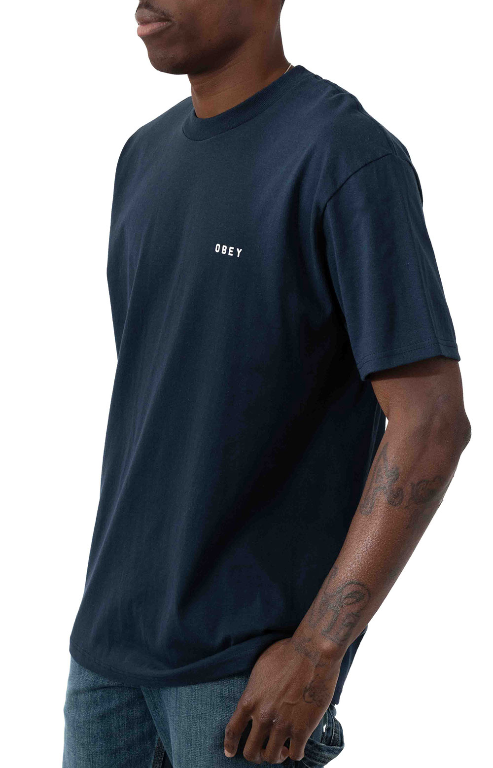 Obey Dissent & Chaos Tiger T-Shirt - Navy  3