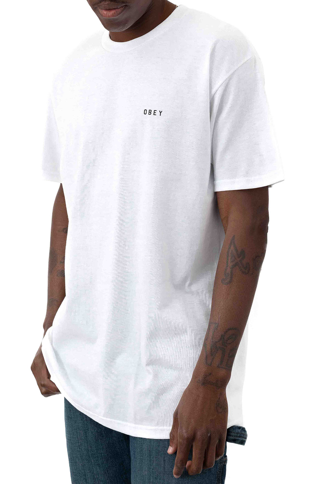 Obey Dissent & Chaos Tiger T-Shirt - White
