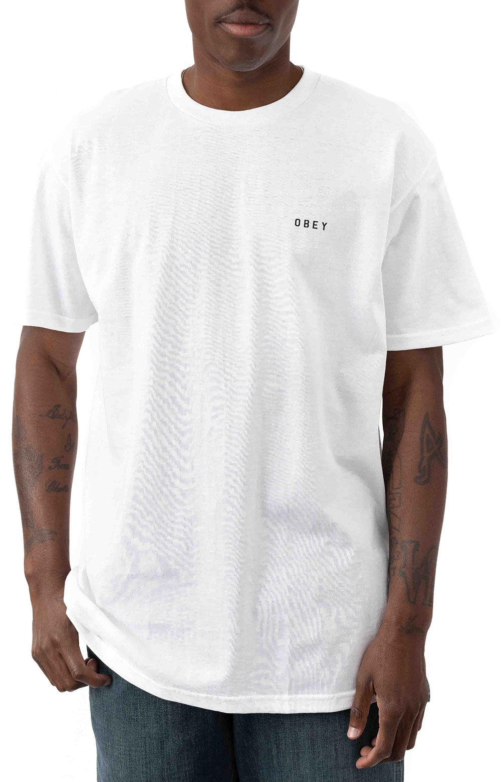 Obey Dissent & Chaos Tiger T-Shirt - White  2