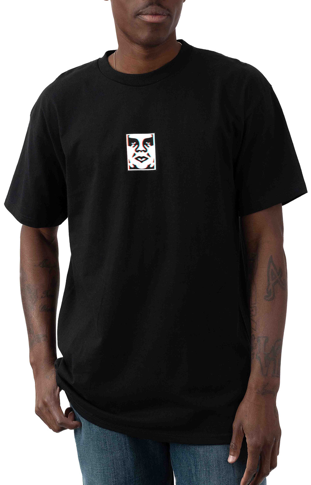 Obey Double Vision T-Shirt - Black