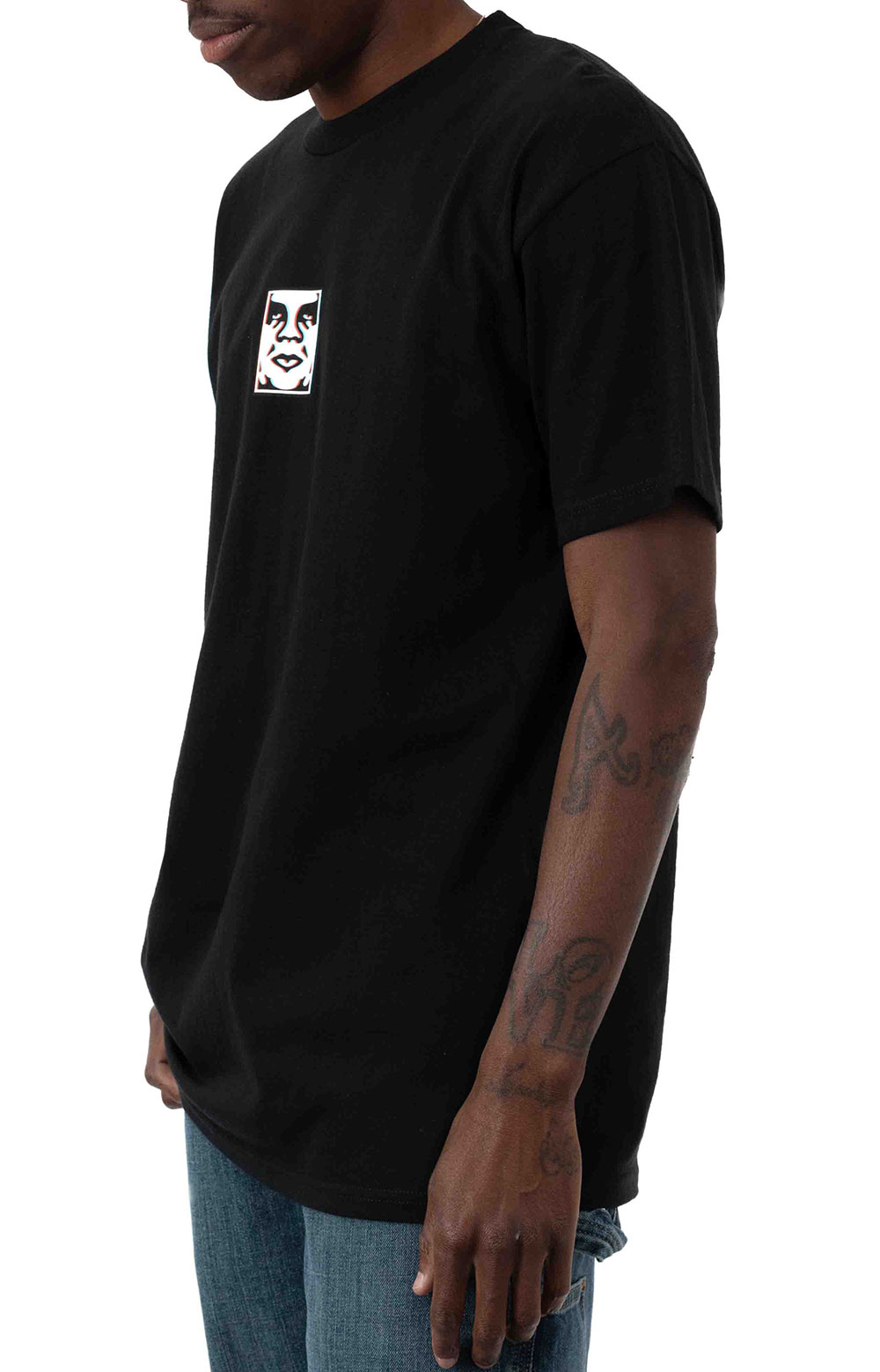 Obey Double Vision T-Shirt - Black 2