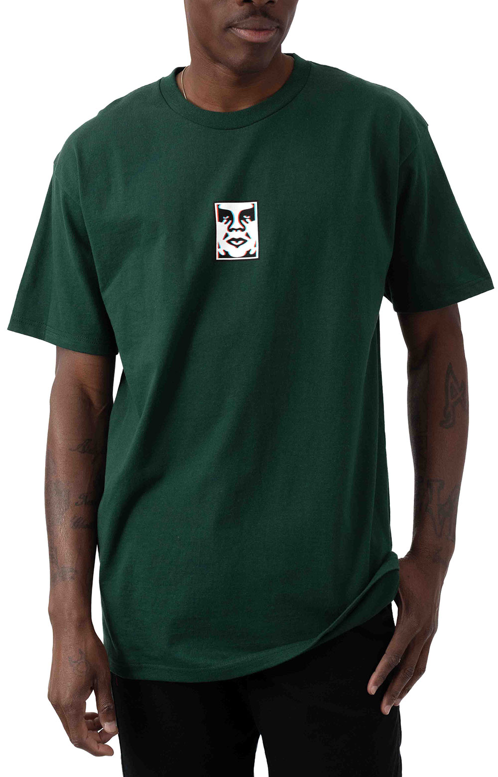 Obey Double Vision T-Shirt - Forest Green