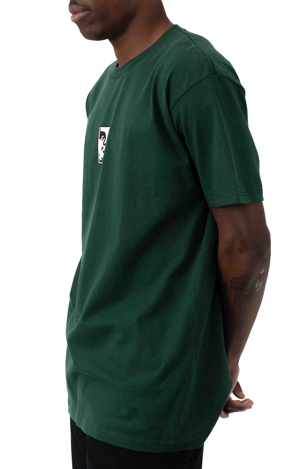 Obey Double Vision T-Shirt - Forest Green  2