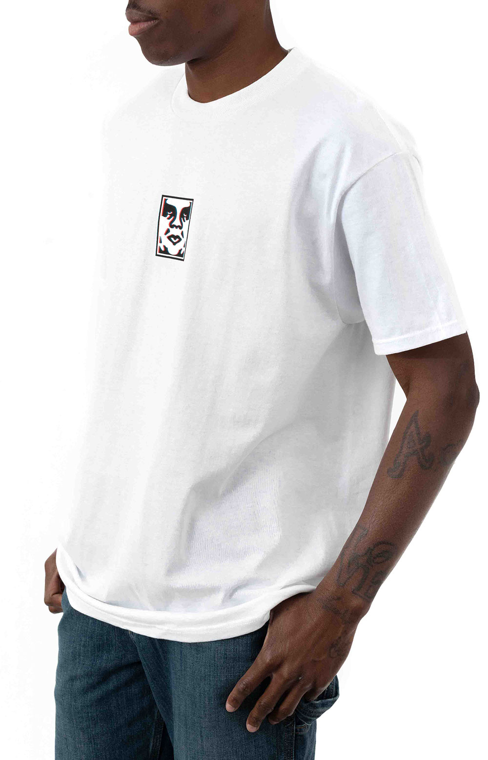 Obey Double Vision T-Shirt - White  2