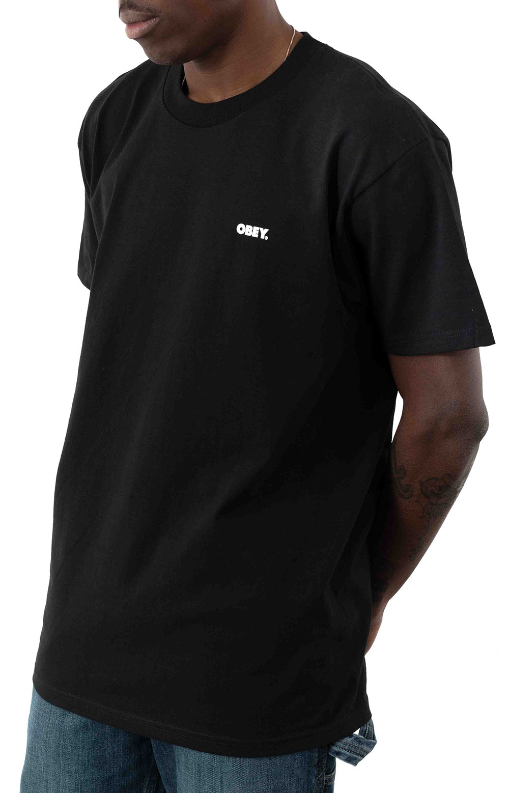 Obey Statue Icon T-Shirt - Black  2