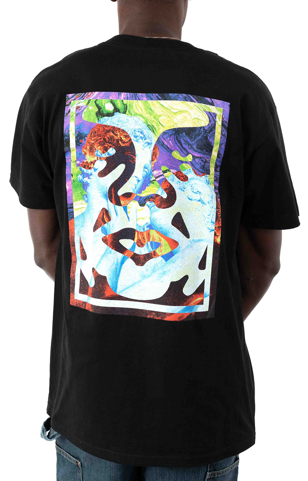 Obey Statue Icon T-Shirt - Black  3