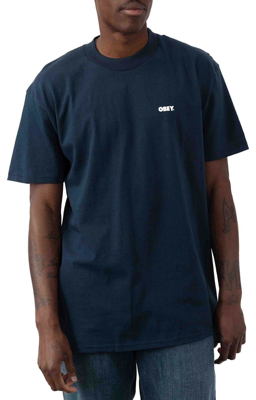 Obey Bold T-Shirt - Navy
