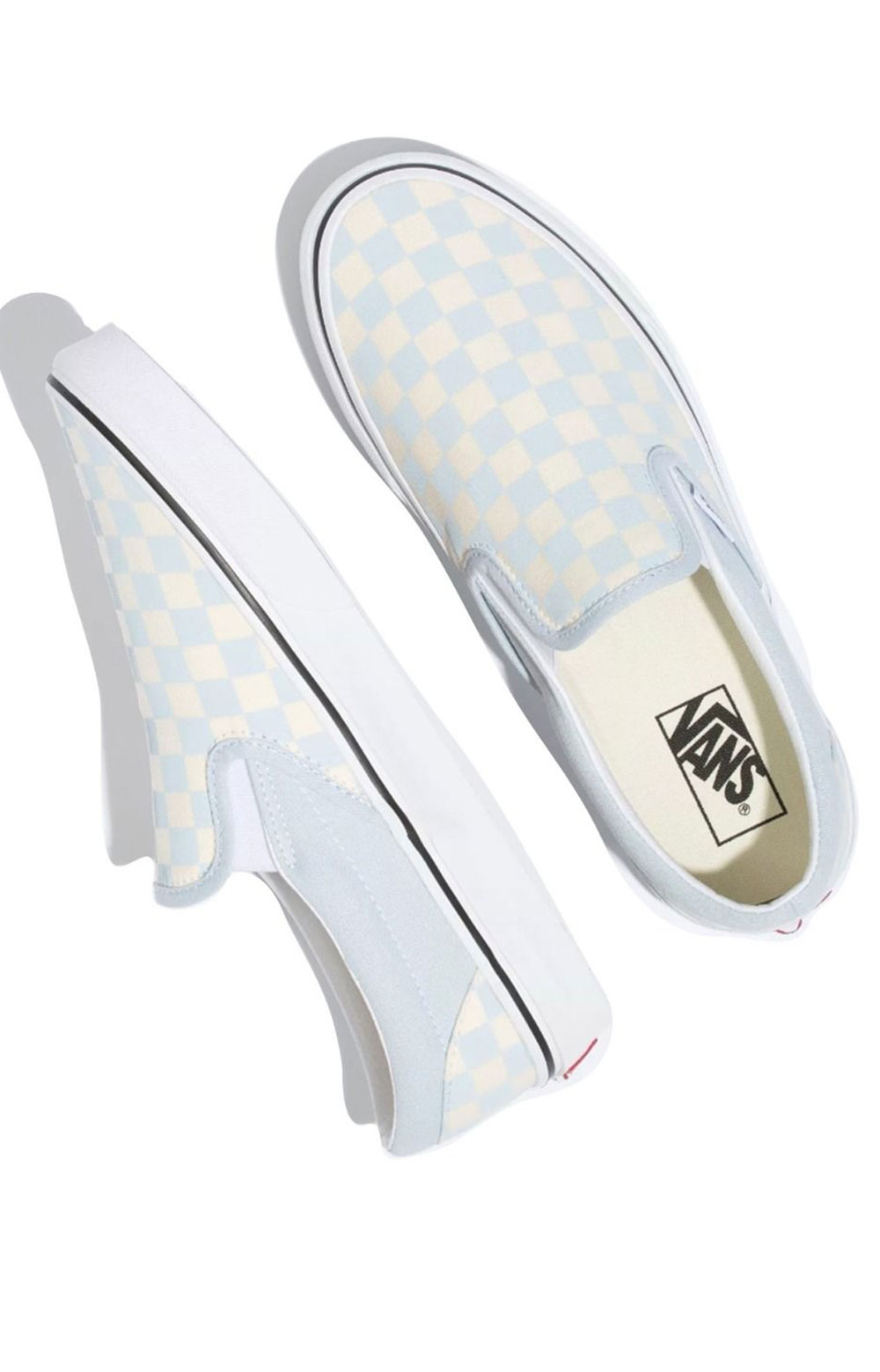 (3TB42Y) Checkerboard Classic Slip-On Shoes - Baby Blue  2