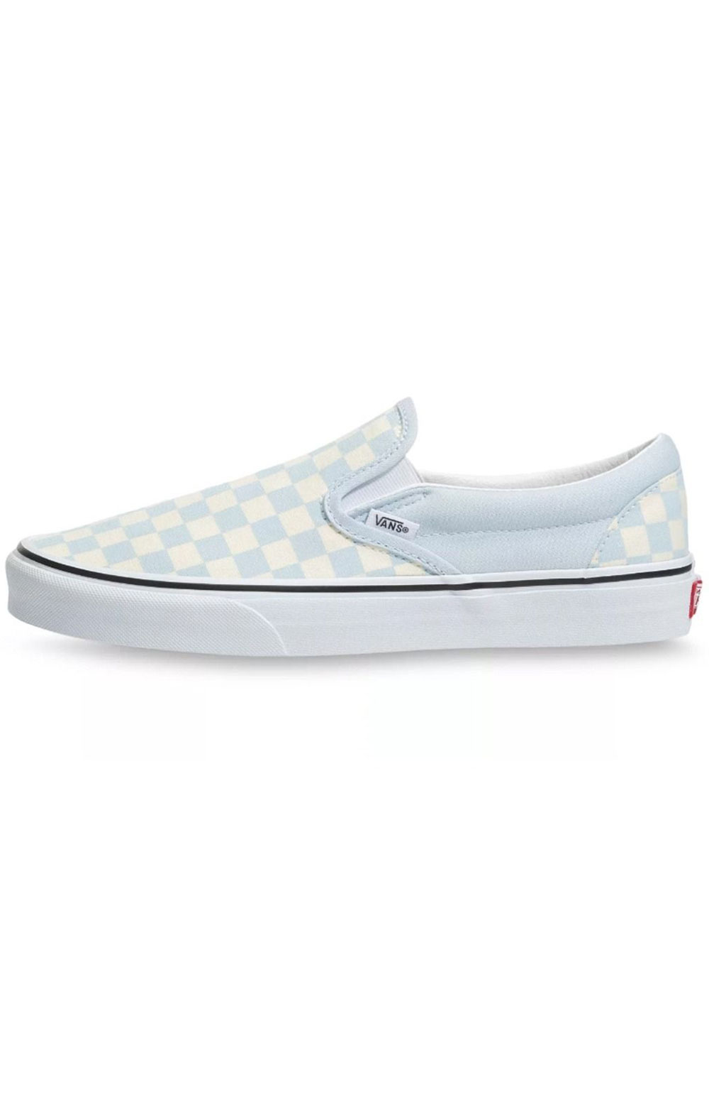 (3TB42Y) Checkerboard Classic Slip-On Shoes - Baby Blue  4
