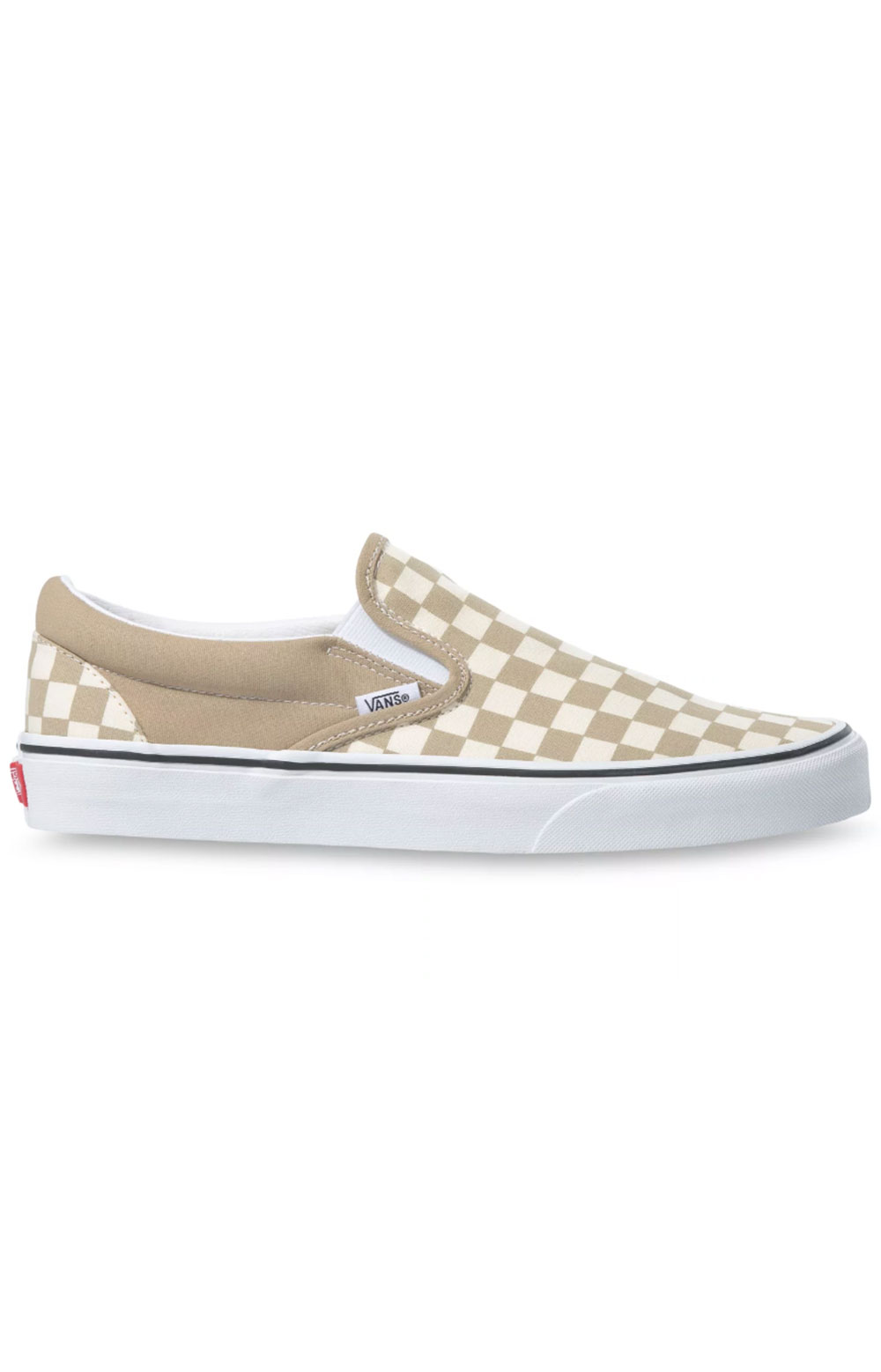 (3TB43A) Checkerboard Classic Slip-On Shoes - Incense