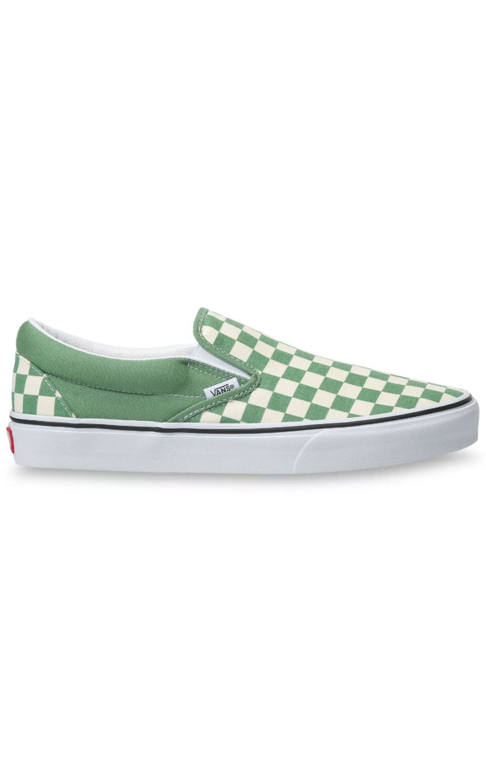 (3TB43B) Checkerboard Classic Slip-On Shoes - Shale