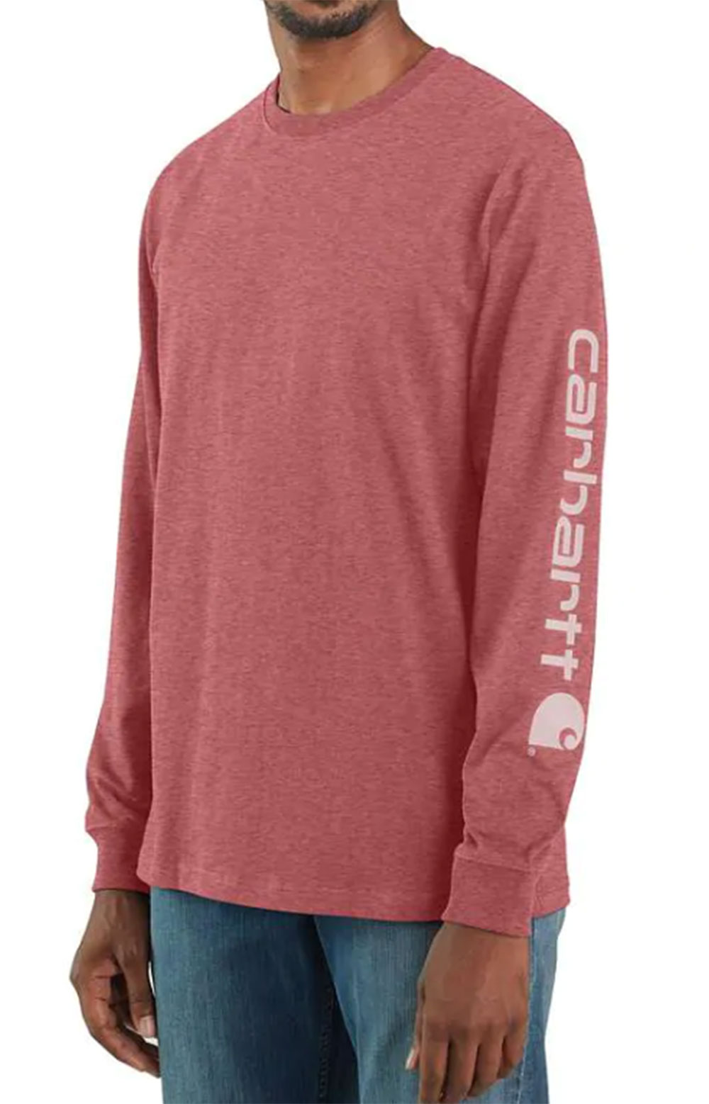 (K231) Signature Sleeve Logo L/S Shirt - Blush Pink Heather