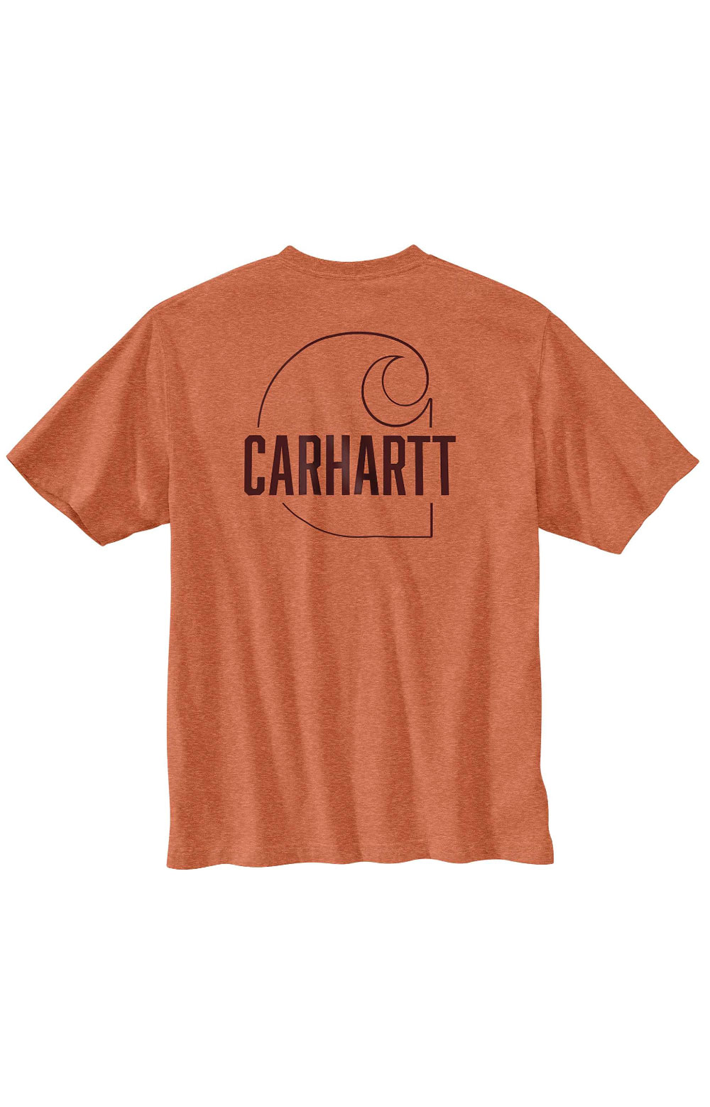 (104611) Loose Fit HW S/S Pocket Carhartt C Graphic T-Shirt - Ginger Heather