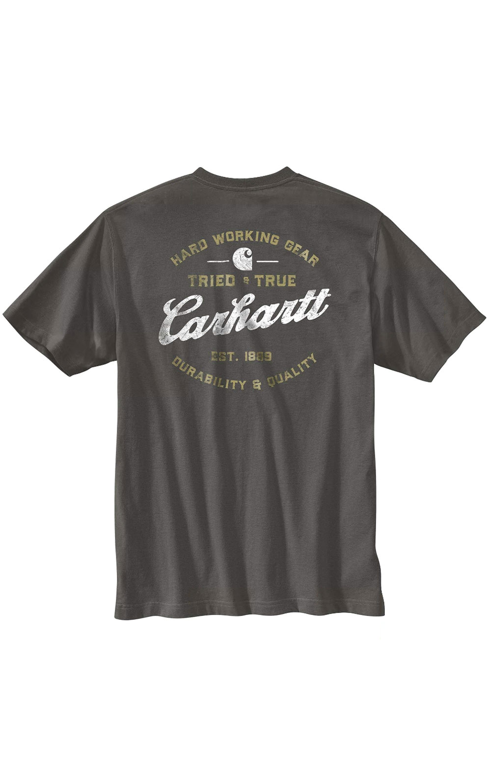 (104612) Relaxed Fit HW S/S Pocket Tried And True Graphic T-Shirt - Peat