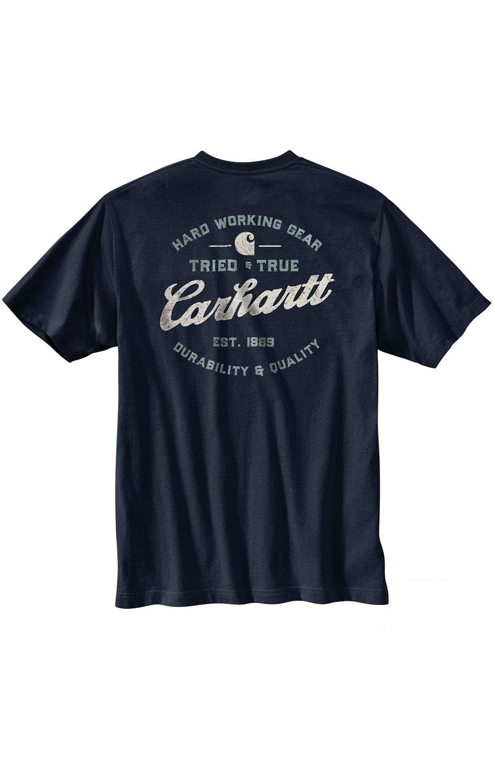 (104612) Relaxed Fit HW S/S Pocket Tried And True Graphic T-Shirt - Navy