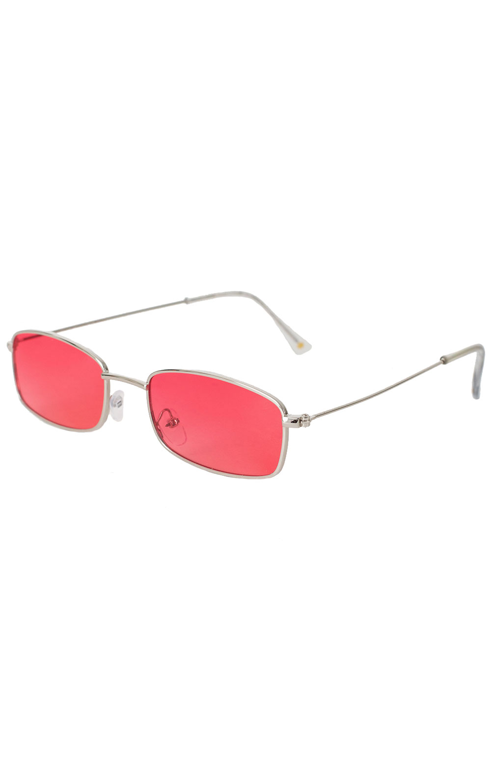 Rae Polarized Sunglasses - Silver/Pink Mirror