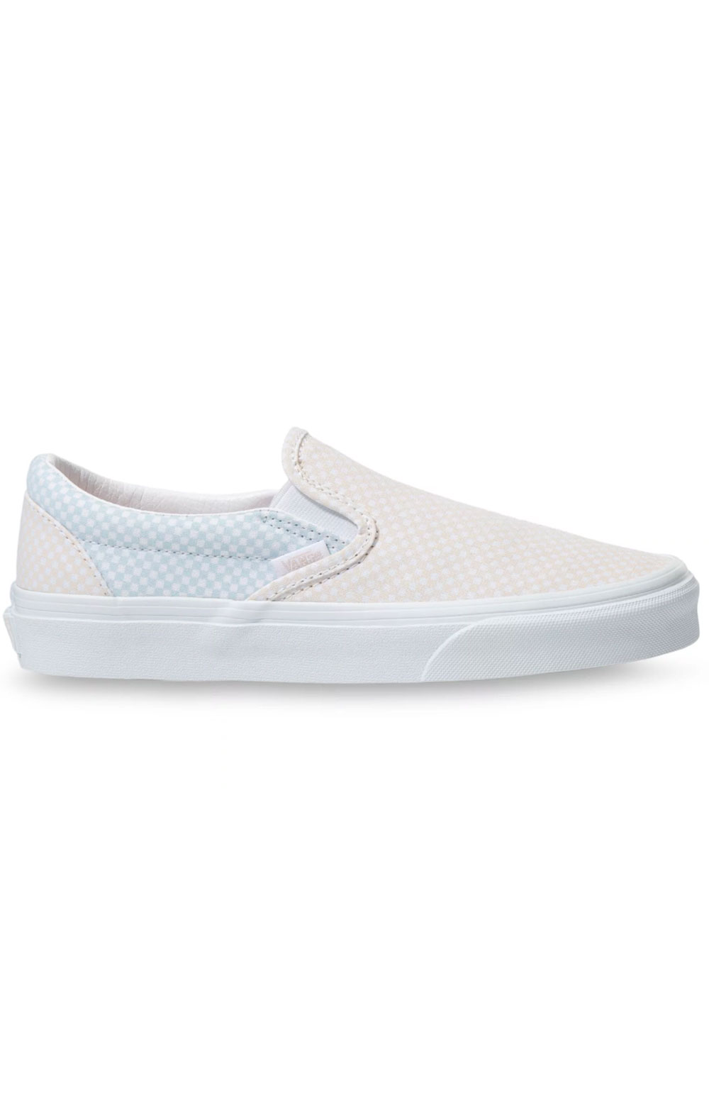 (3TB44A) Pastel Checkerboard Classic Slip-On Shoes - Misty Blue
