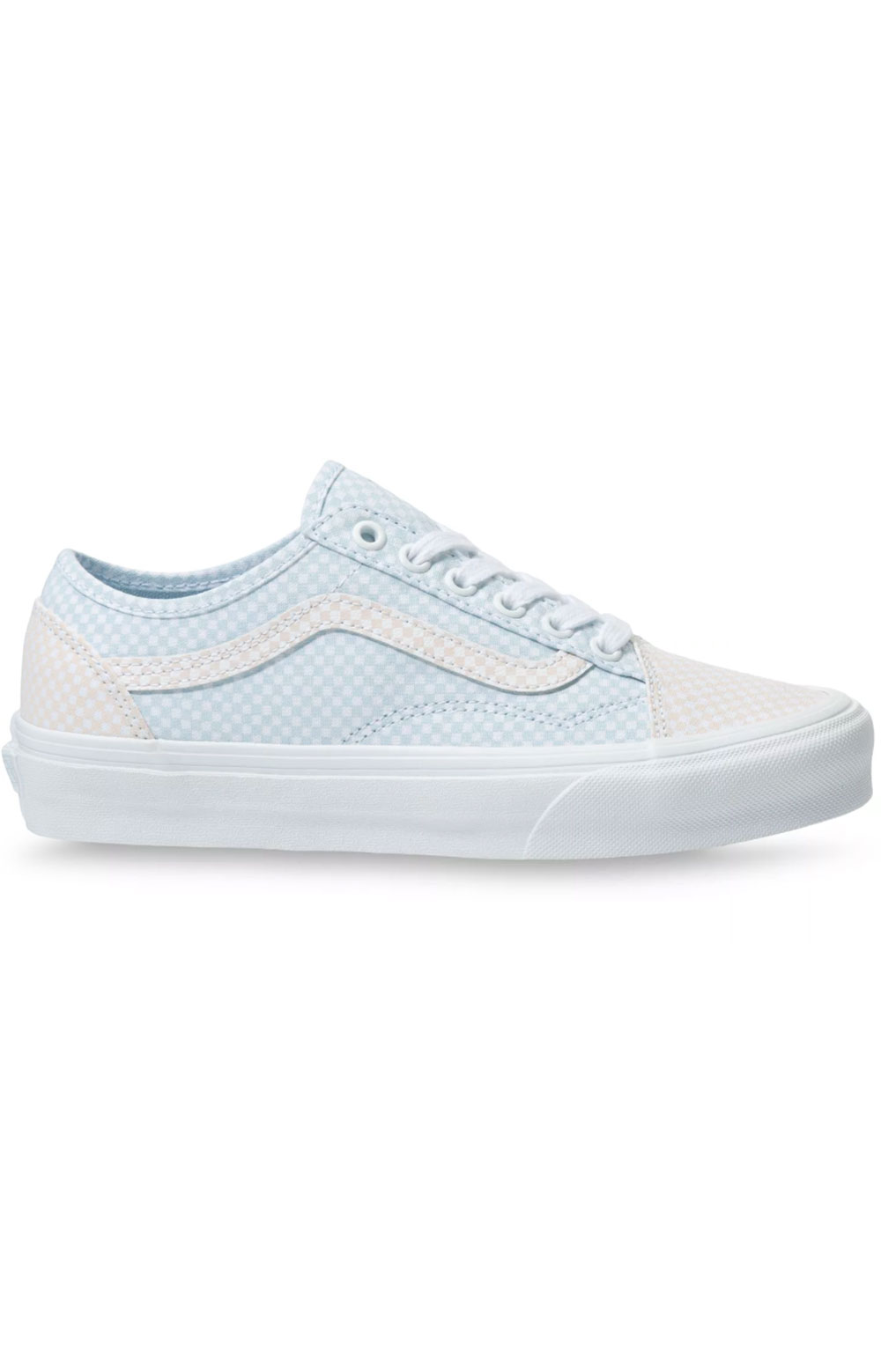 (4F44TZ) Pastel Checkerboard Old Skool Tapered Shoes - Ballad Blue