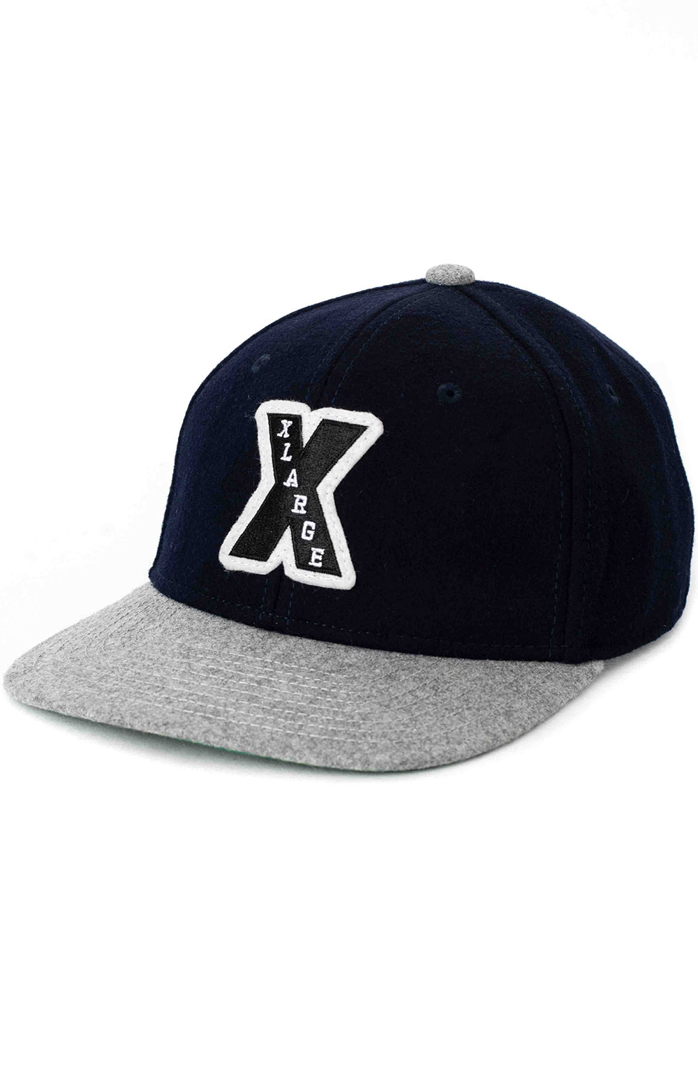 Patched Wool Cap - Navy