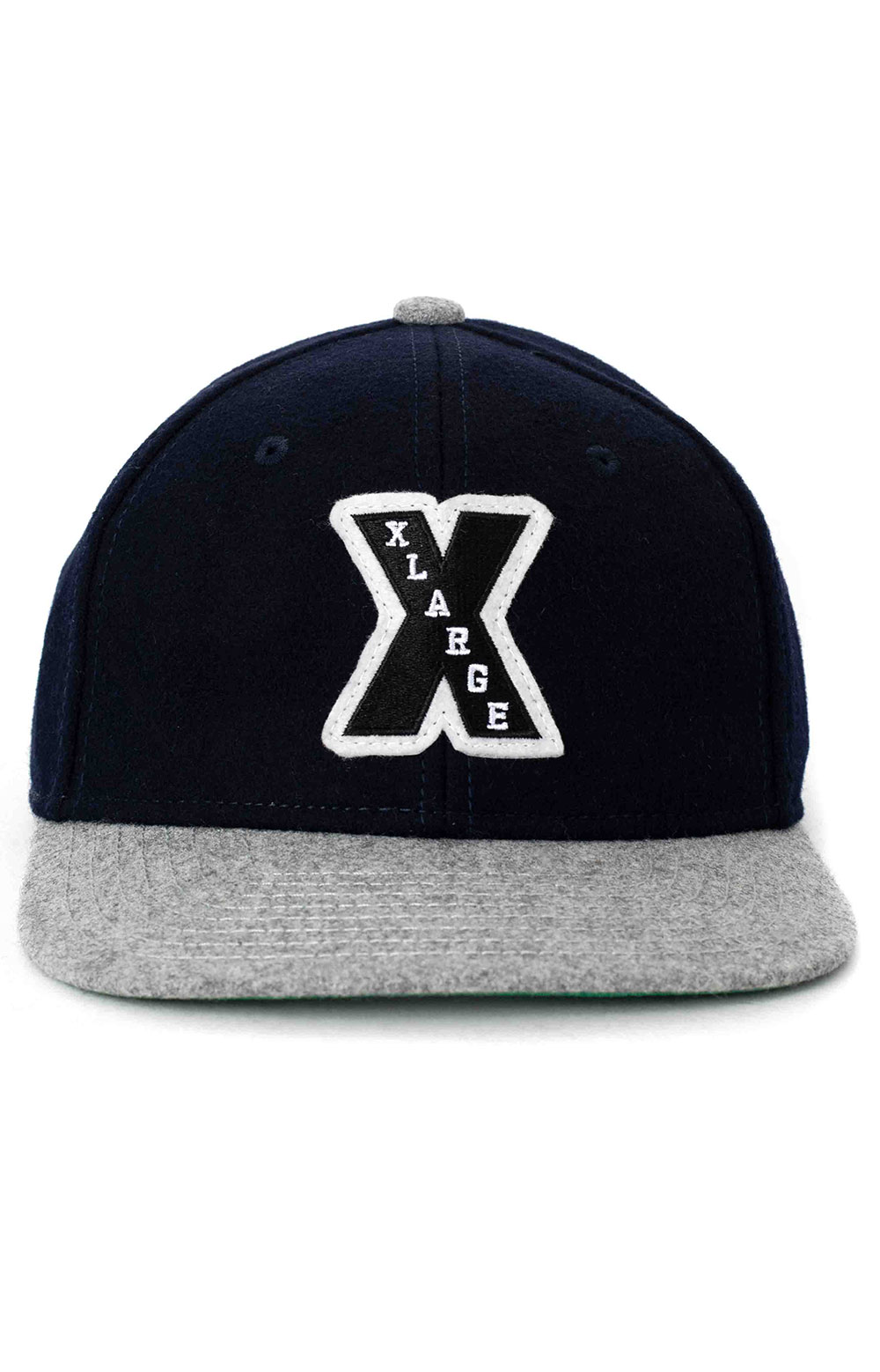Patched Wool Cap - Navy 2